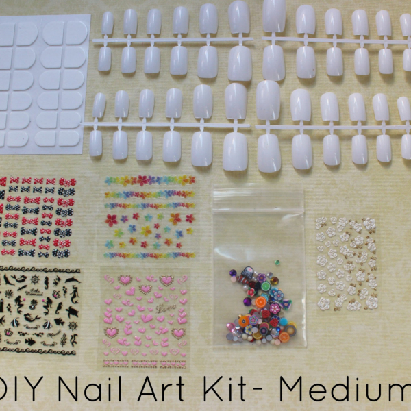 DIY Nail Art Kit Medium by NeverTooMuchGlitter