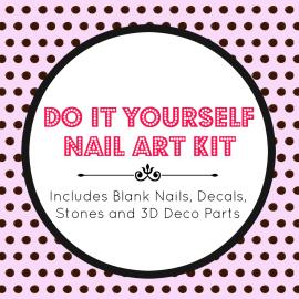 DIY Nail Art Kit by NeverTooMuchGlitter