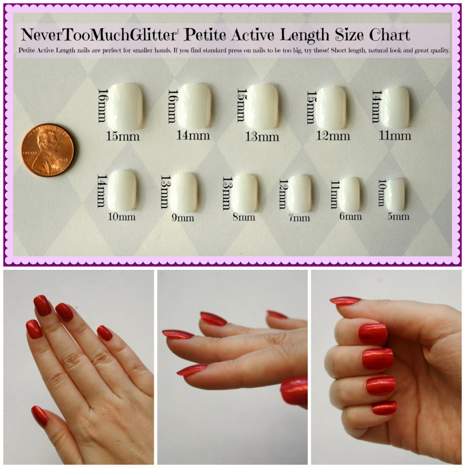 DIY Nail Art Kit- Petite Active Length | Nails By NeverTooMuchGlitter