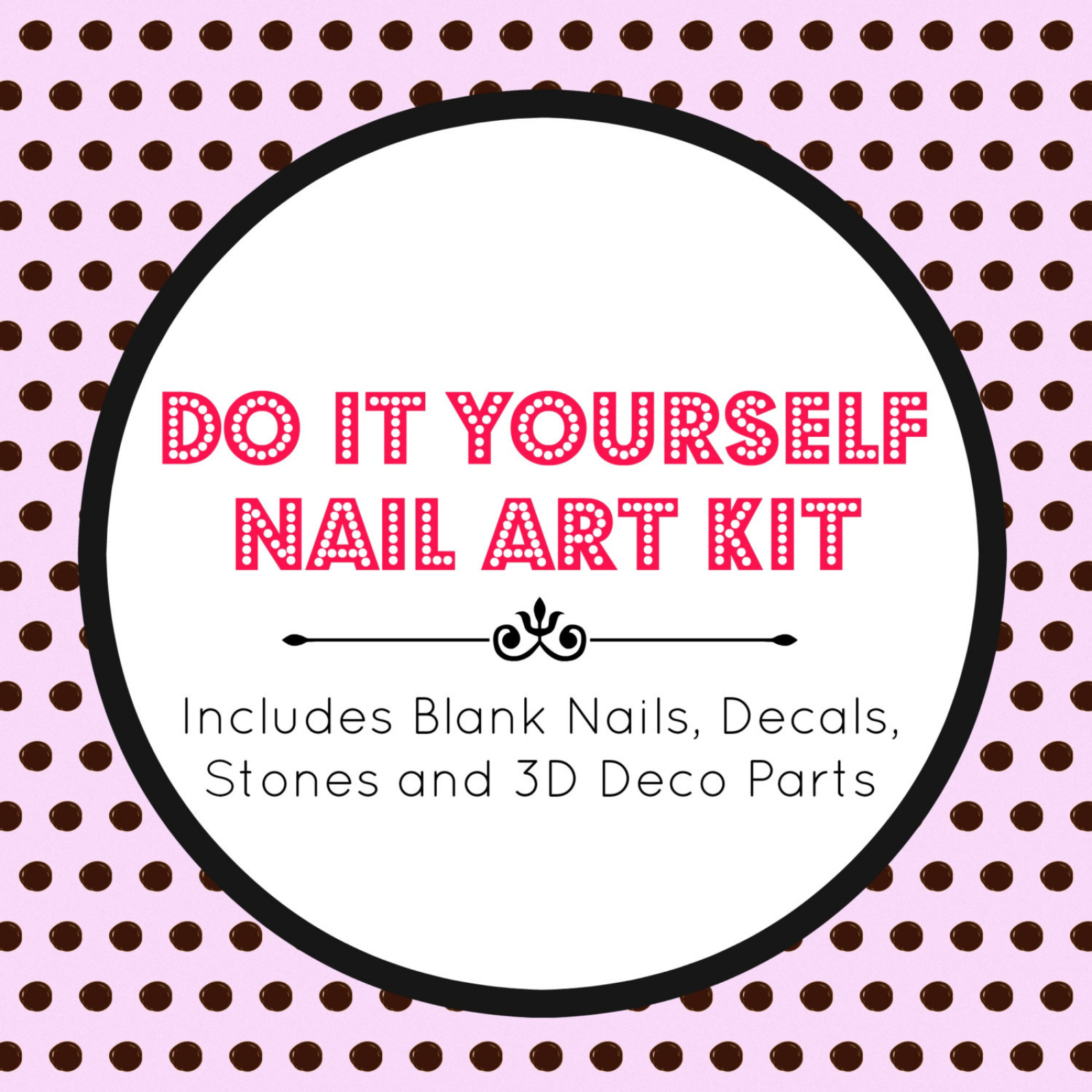 Diy nail art kit in your choice of sizes nails by nevertoomuchglitter diy nail art kit in your choice of sizes solutioingenieria Choice Image
