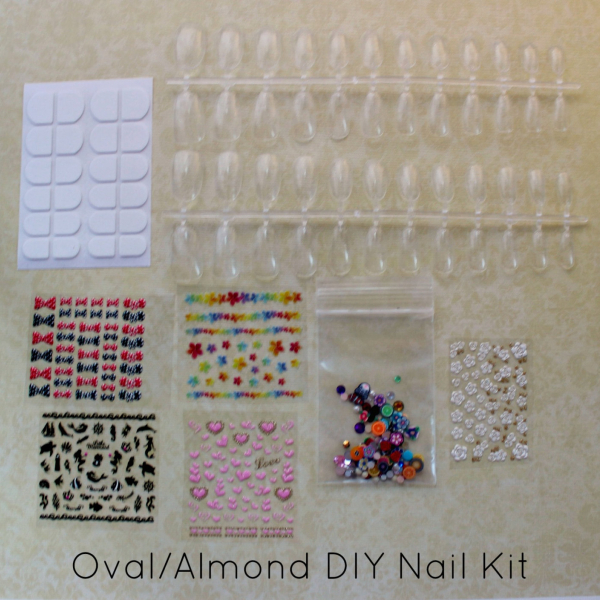 DIY Nail Art Kit Oval by NeverTooMuchGlitter
