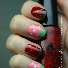 Nails by nevertoomuchglitter handmade designer press on nails sweet strawberry nails prinsesfo Choice Image
