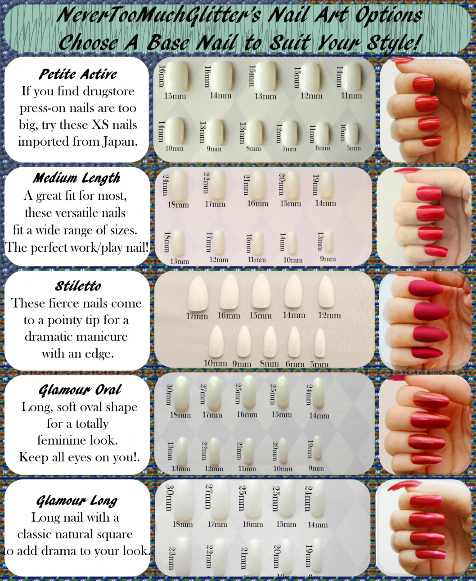 DIY Nail Art Kit In Your Choice of Sizes | Nails By NeverTooMuchGlitter