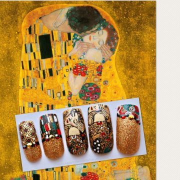 """""""The Kiss"""" by Klimt Nails"""