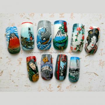Japanese Woodblock Nails